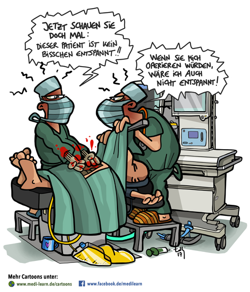 Entspannter Patient