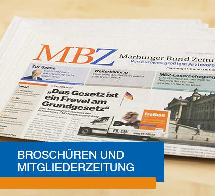 Broschüren und Mitgliederzeitung