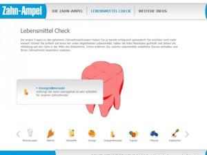 Screenshot der Website zahnampel.de